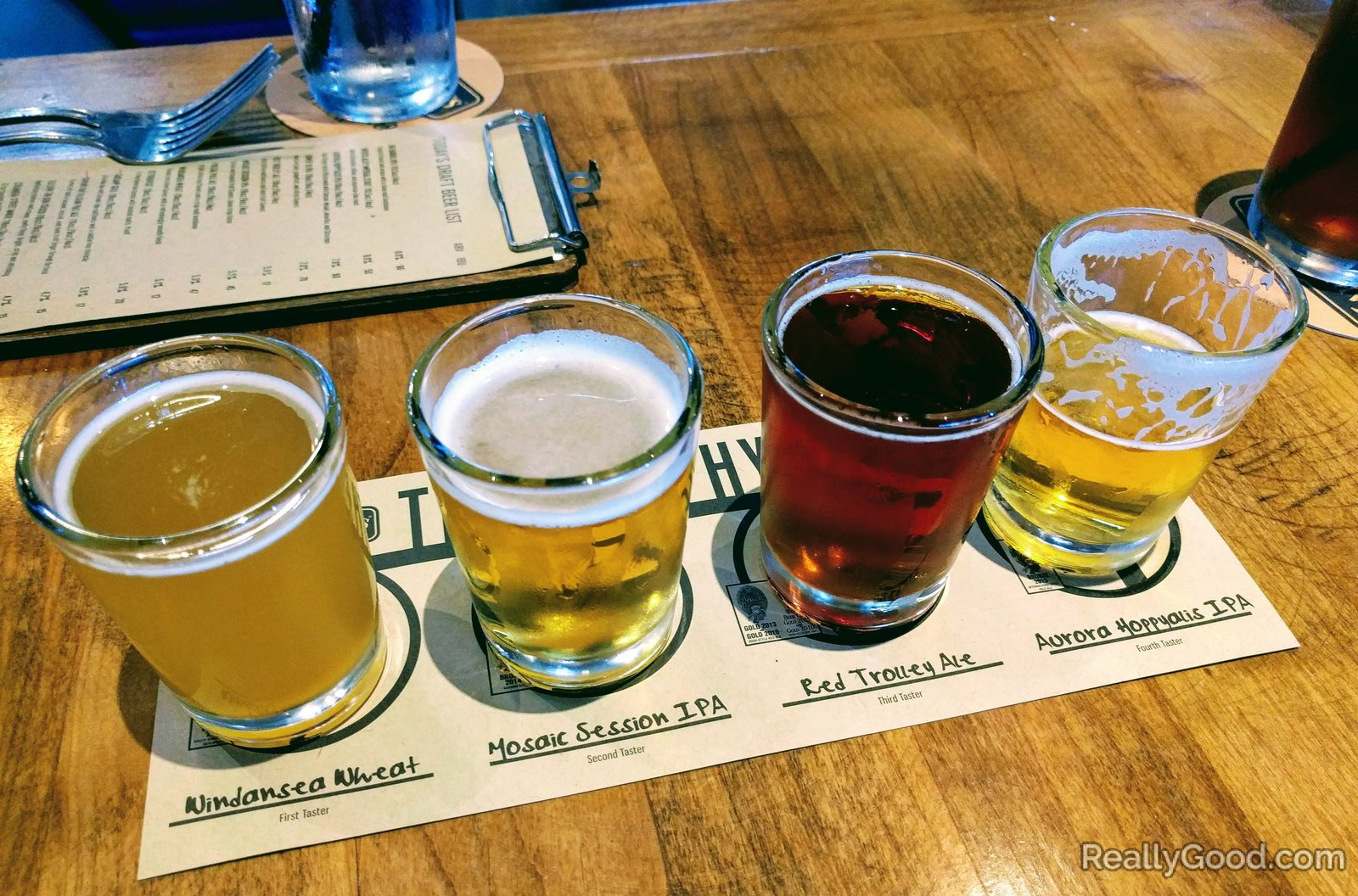 Beer tasting at Karl Strauss in Carlsbad
